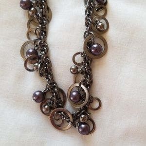 5 for $25 Metallic beaded necklace and earring set